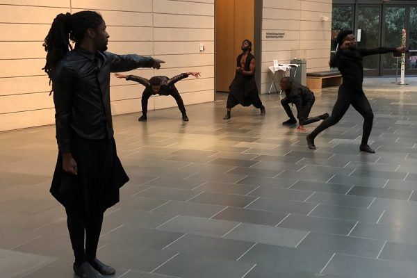 Hero Complexities, performed by Theatre of Movement at the Nasher Museum